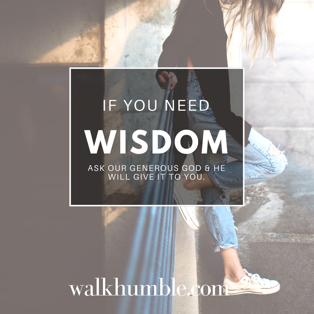 What to Do When You Need Wisdom