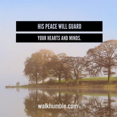 His Peace Will Guard You